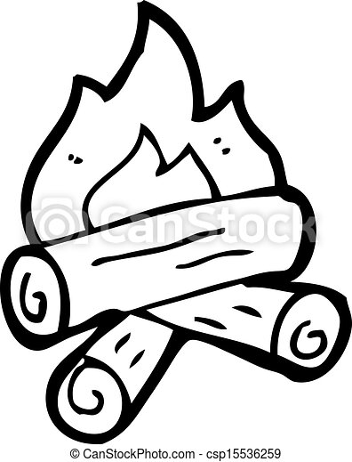 Burning Wood Clipart Vector - cartoon burning wood
