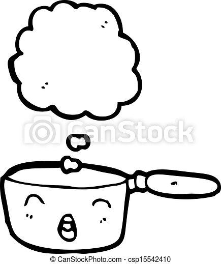 Clip art vecteur de cuivre dessin anim casserole - Casserole dessin ...