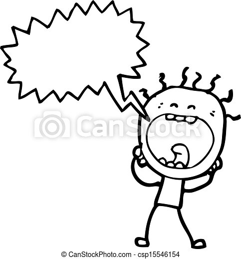 Man Cartoon Drawing Cartoon Screaming Doodle Man