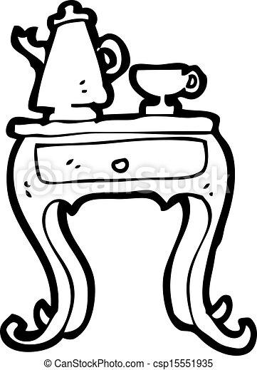 vectors of cartoon coffee table csp15551935