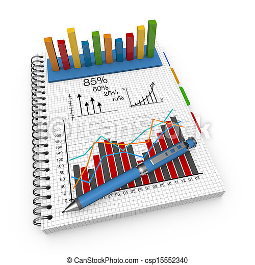 Notebook accounting concept  - csp15552340