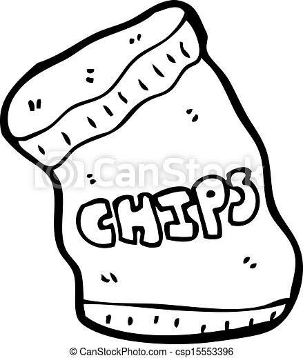 Line art eps picture pictures graphic graphics drawing drawings - Eps Vectors Of Cartoon Potato Chips Csp15553396 Search
