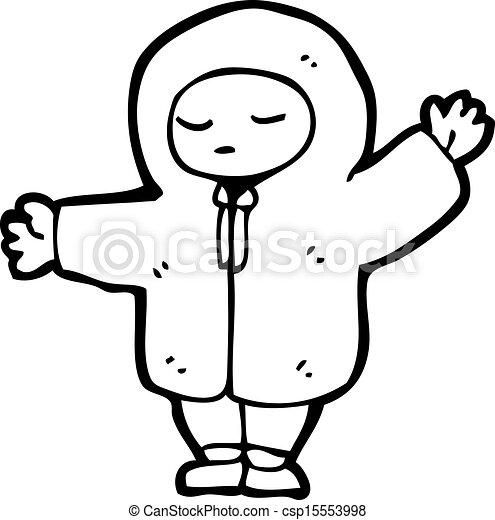 Vecteurs eps de gar on dessin anim hiver manteau - Manteau dessin ...