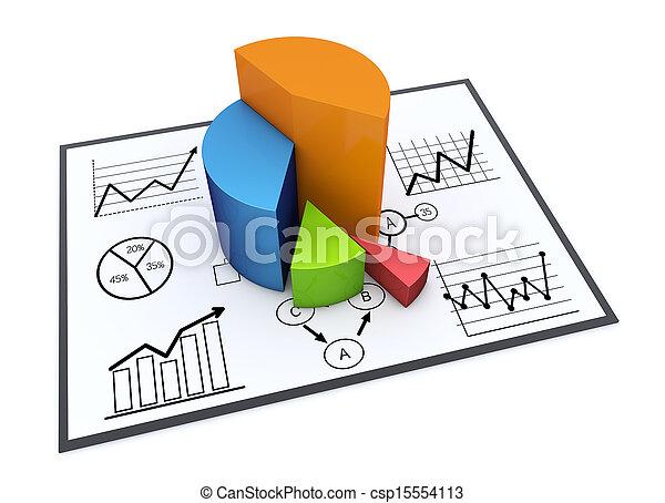 Chart and graphs - csp15554113
