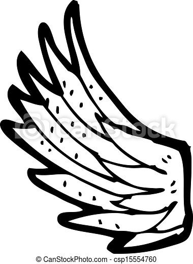 Clip Art Vector of cartoon angel wing csp15554760 - Search Clipart ...