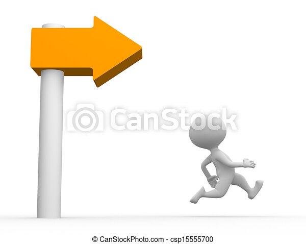 Directional sign  - csp15555700