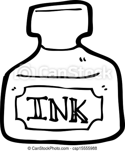 Vector of ink bottle cartoon csp15555988 - Search Clip Art ...