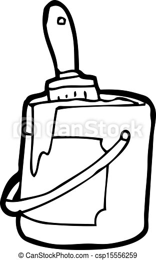 Clipart Vector of cartoon bright paint can csp15556259 - Search ...