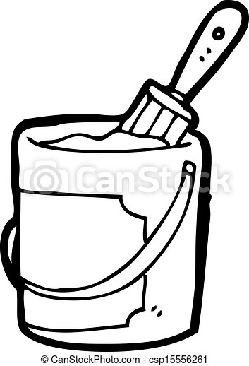 Clip Art Vector of cartoon bright paint can csp15556261 - Search ...