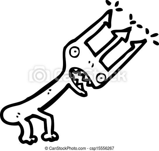 Clip Art Vector of cartoon devil's pitchfork csp15556267 - Search ...
