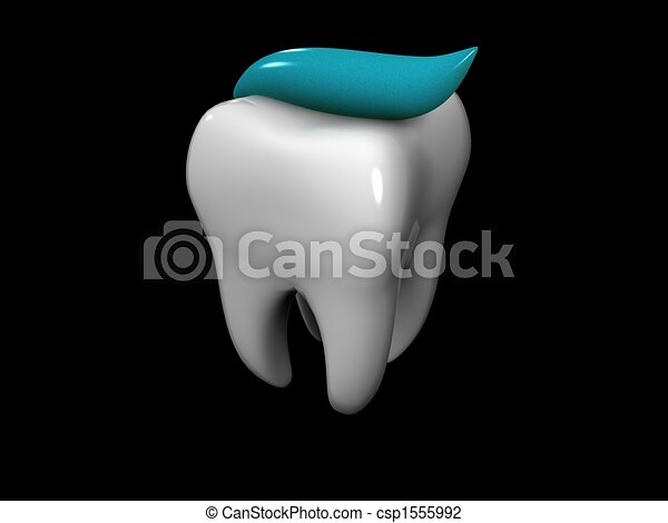 tooth and toothpaste - csp1555992