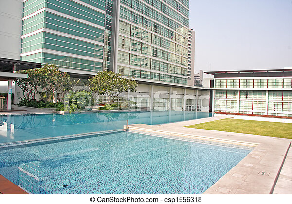 Luxury Apartment Condominium Property - csp1556318
