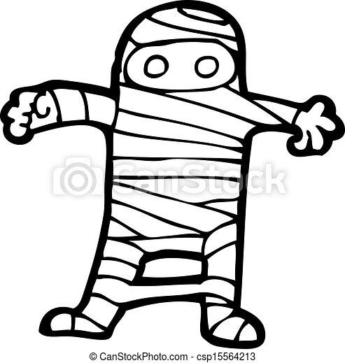 mummy - stock illustration, royalty free illustrations, stock clip art ...