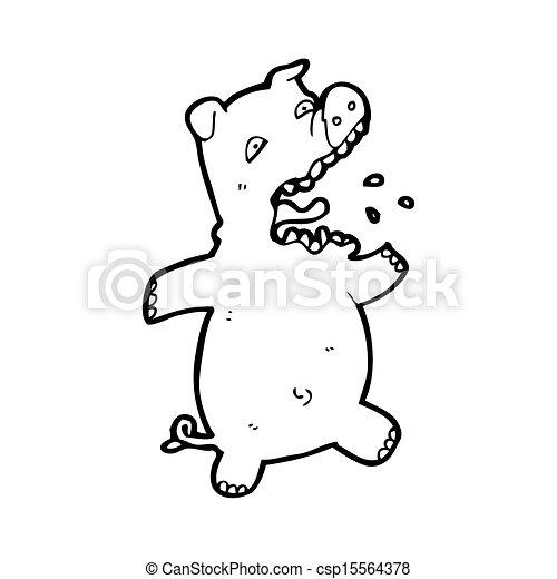 cartoon scared pig - csp15564378