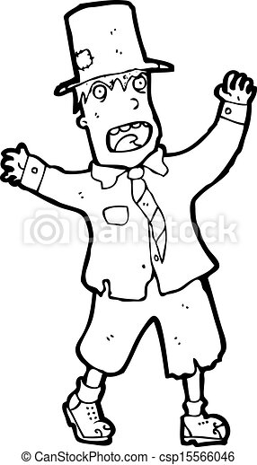 Homeless Black Man Clipart Cartoon crazy homeless guy -