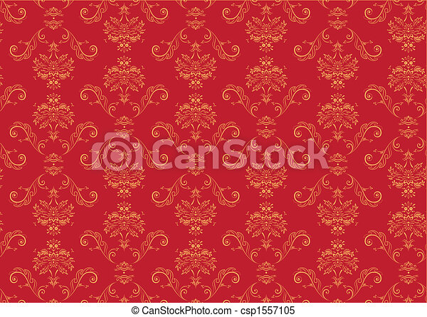 Victorian  wallpaper Pattern - csp1557105