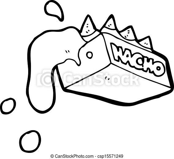 EPS vector de Nachos, caricatura - caricatura, Nachos ...
