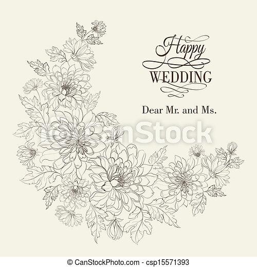 Vecteurs EPS de fleur, couronne, de, chrysanthème, vecteur ...