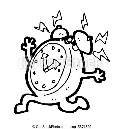 Clip art de reveil horloge courant dessin anim - Dessin reveil ...