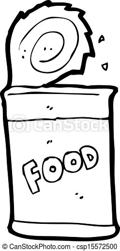 Vector Clipart of cartoon canned food csp15572500 - Search Clip ...