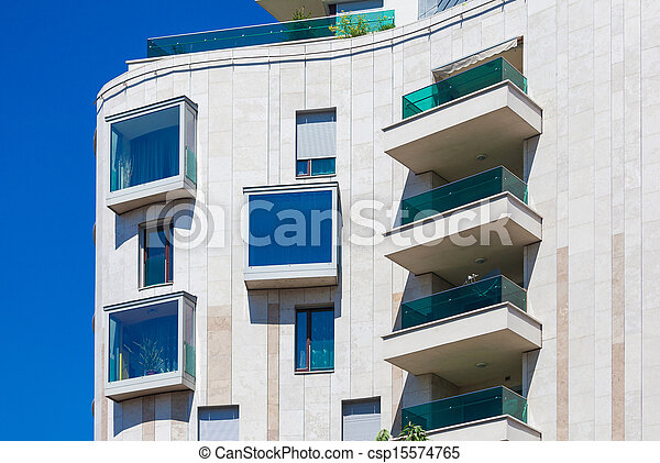 Modern residential  building - csp15574765