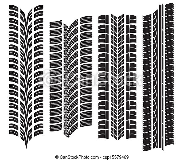 Clip Art Vector of various tyre treads csp15579469 - Search Clipart ...