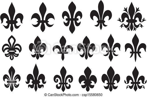 clipart vektor von lilie ritterwappen blume symbol. Black Bedroom Furniture Sets. Home Design Ideas