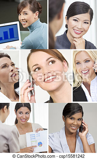 Montage of Successful Business Women  - csp15581242