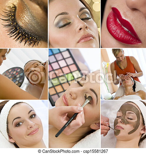 Montage Women Make Up Treatment at Health Spa - csp15581267