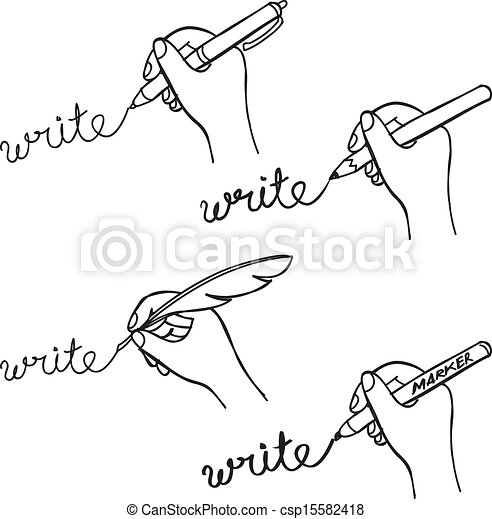 Vector Clip Art of doodle hand writing csp15582418 - Search ...