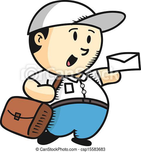 Vecteur de dessin anim facteur csp15583683 recherchez des images graphiques clip art - Facteur dessin ...