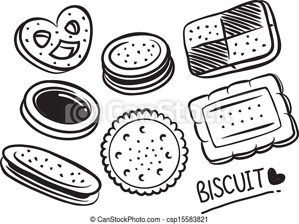 Sqaure Cookie Cake Clipart Black And White