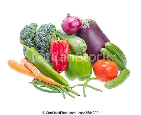 Assorted vegetables. - csp15584303