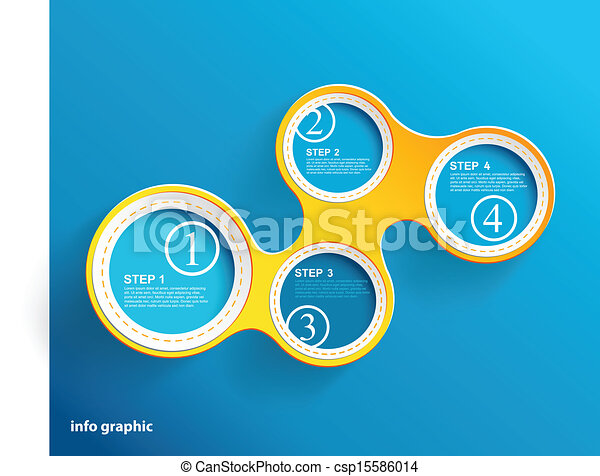 Info graphic circles with place for your text.  - csp15586014