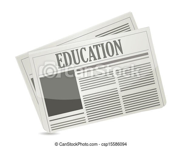 education newsletter illustration design - csp15586094
