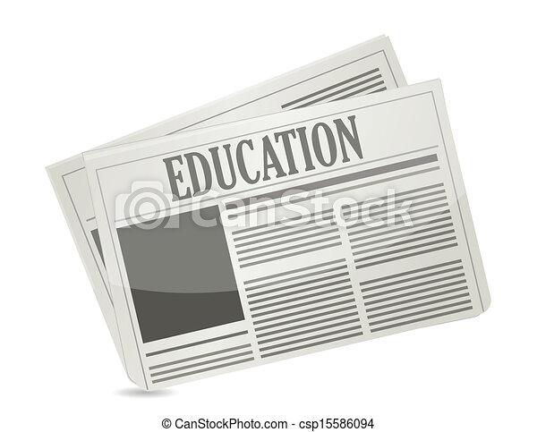 education newsletter illustration design - csp15586094