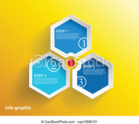 3 cards with numbers and place for your text.  - csp15586151
