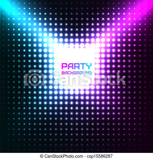 Shiny Disco Party Background Vector Design - csp15586287