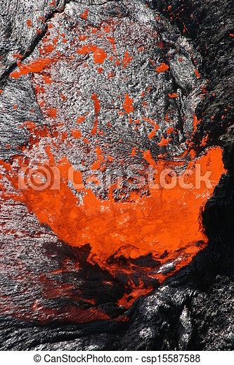 Volcano Erta Ale in Ethiopia - csp15587588