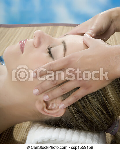 Woman in a day spa - csp1559159