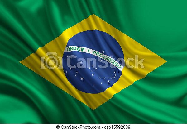 Flag of Brazil - csp15592039