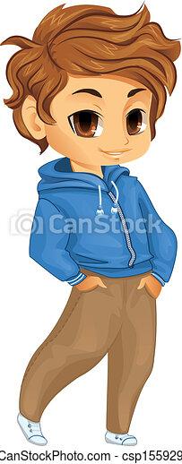 Vector Of Cute Little Boy Csp15592983 Search Clip Art