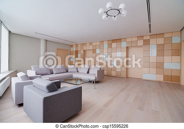 Modern office building interior - csp15595226