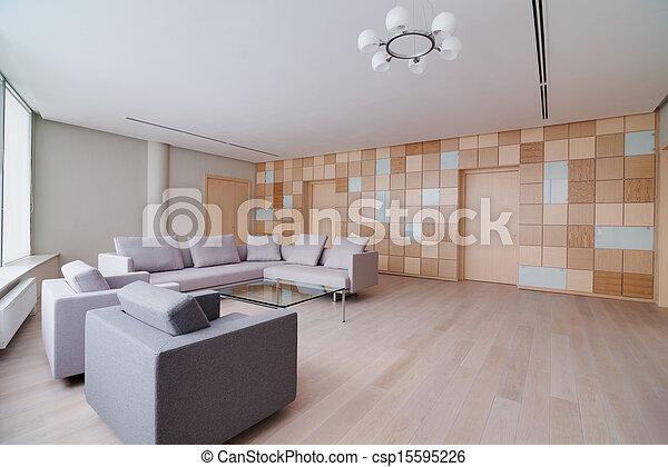 Modern office building interior - csp15595226