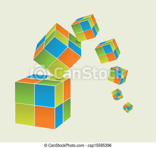 Falling cubes - csp15595396