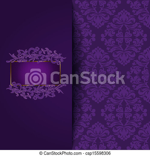 vintage purple background - csp15598306