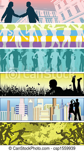People banners - csp1559939