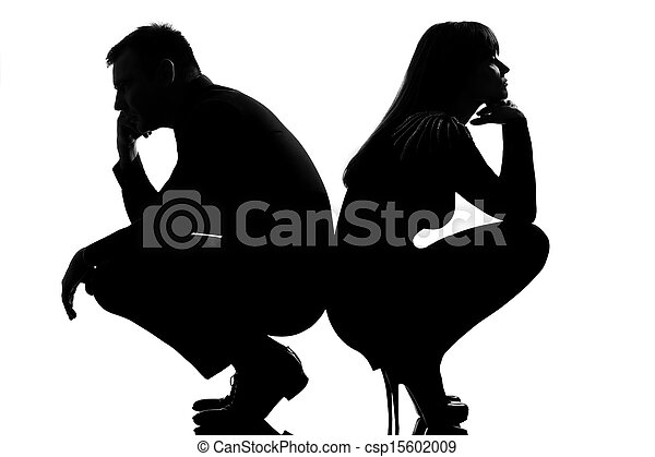 one dispute couple man and woman - csp15602009