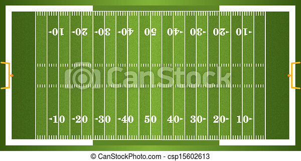 Textured Grass American Football Field - csp15602613