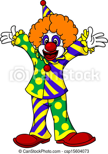 vector illustratie van circus  clown  in  spotprent  stijl elk clip art free elk clip art image